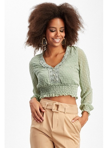 Manche Bluz Yeşil